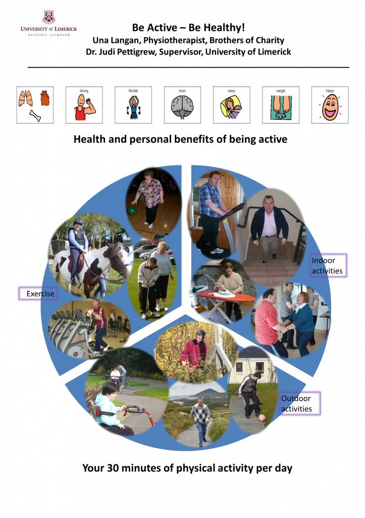 Be Active be healthy! poster for physio - jpeg version